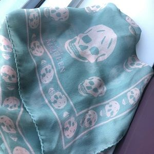 Authentic Alexander Mcqueen silk skull scarf
